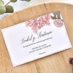 Tarjeta de agradecimiento flores y marco, Cardnovel 49783