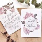 Invitación de boda floral a 2 caras, Cardnovel 39783