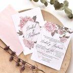 2-Sided Floral Wedding Invitation, Cardnovel 39783