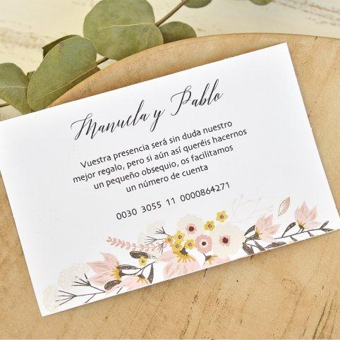 Biglietto di ringraziamento coppia e bouquet, Cardnovel 49786