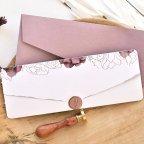 Halbumschlag Hochzeitseinladung und Postkarte, Cardnovel 39763