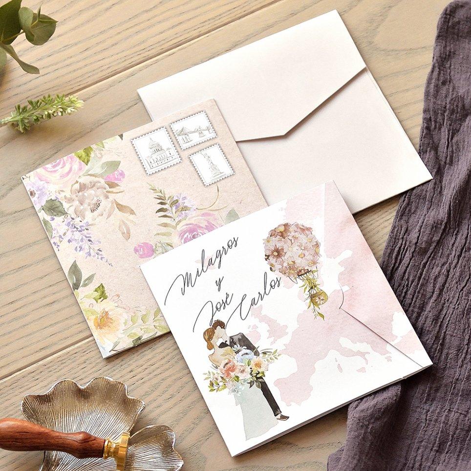 Balloon Couple Wedding Invitation, Cardnovel 39773