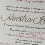 Invitación de boda plata, 1802F