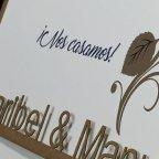 Invitación de boda nombres en láser, 1805F
