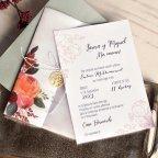 Hochzeitseinladungsblumen und -anhänger, Cardnovel 39819