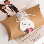 Invitación de boda novios en caja, Cardnovel 39801