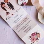 Hochzeitseinladung verpackt Braut und Bräutigam, Cardnovel 39801