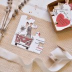Invitación de boda puzle con furgoneta, Cardnovel 39808