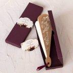 Invitación de boda abanico con flores Cardnovel 39818