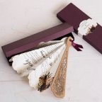 Hochzeitseinladungsfan mit Blumen Cardnovel 39818