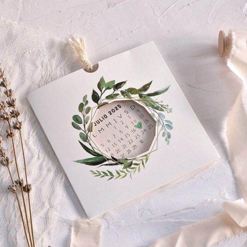 39803 Cardnovel 39803 Flower Calendar Wedding Invitation