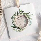 Invitación de boda calendario con flores Cardnovel 39803