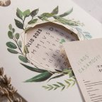 39803 Cardnovel 39803 Flower Calendar Wedding Invitation