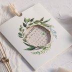 Calendario dell'invito di nozze con fiori Cardnovel 39803