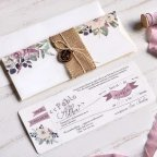 Halbumschlag-Hochzeitseinladung mit colgate, Cardnovel 39805