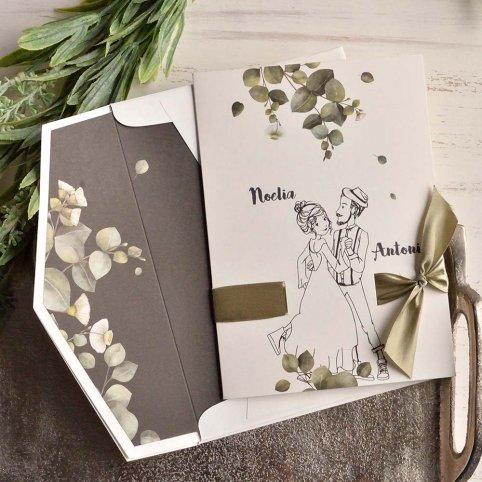 Coppia di invito a nozze e cabina fotografica, Cardnovel 39811