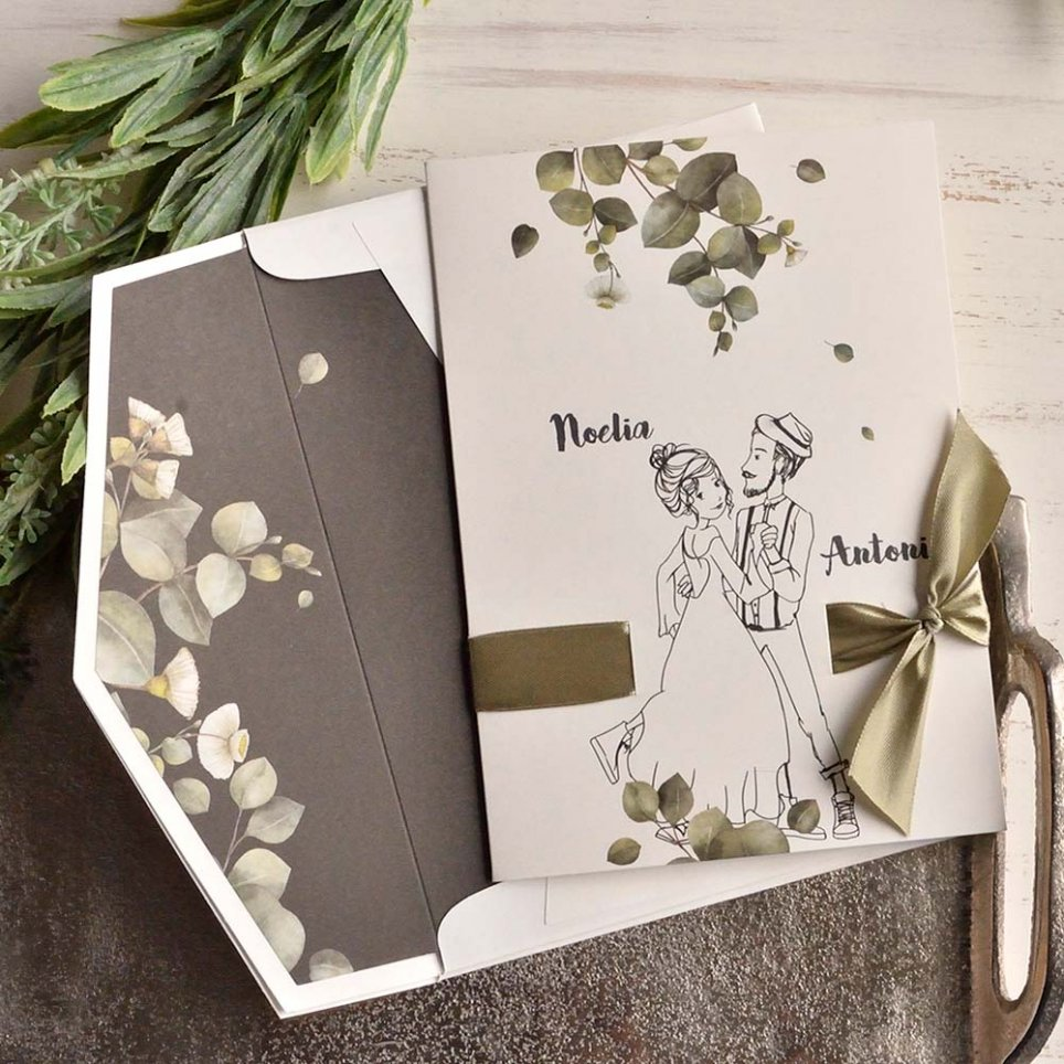 Couple wedding invitation and photo booth, Cardnovel 39811