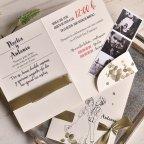 Invitación de boda pareja y fotomatón, Cardnovel 39811