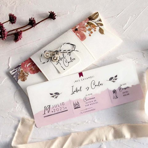 Bicycle Hanging Wedding Invitation, Cardnovel 39806