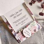39826 Pearly Flowers Wedding Invitation Cardnovel