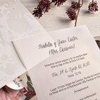 Invito a nozze fiori perlati Cardnovel 39826