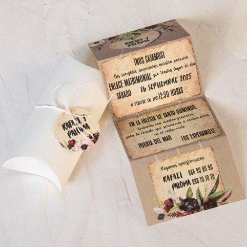 Coração de convite de casamento na caixa, Cardnovel 39800