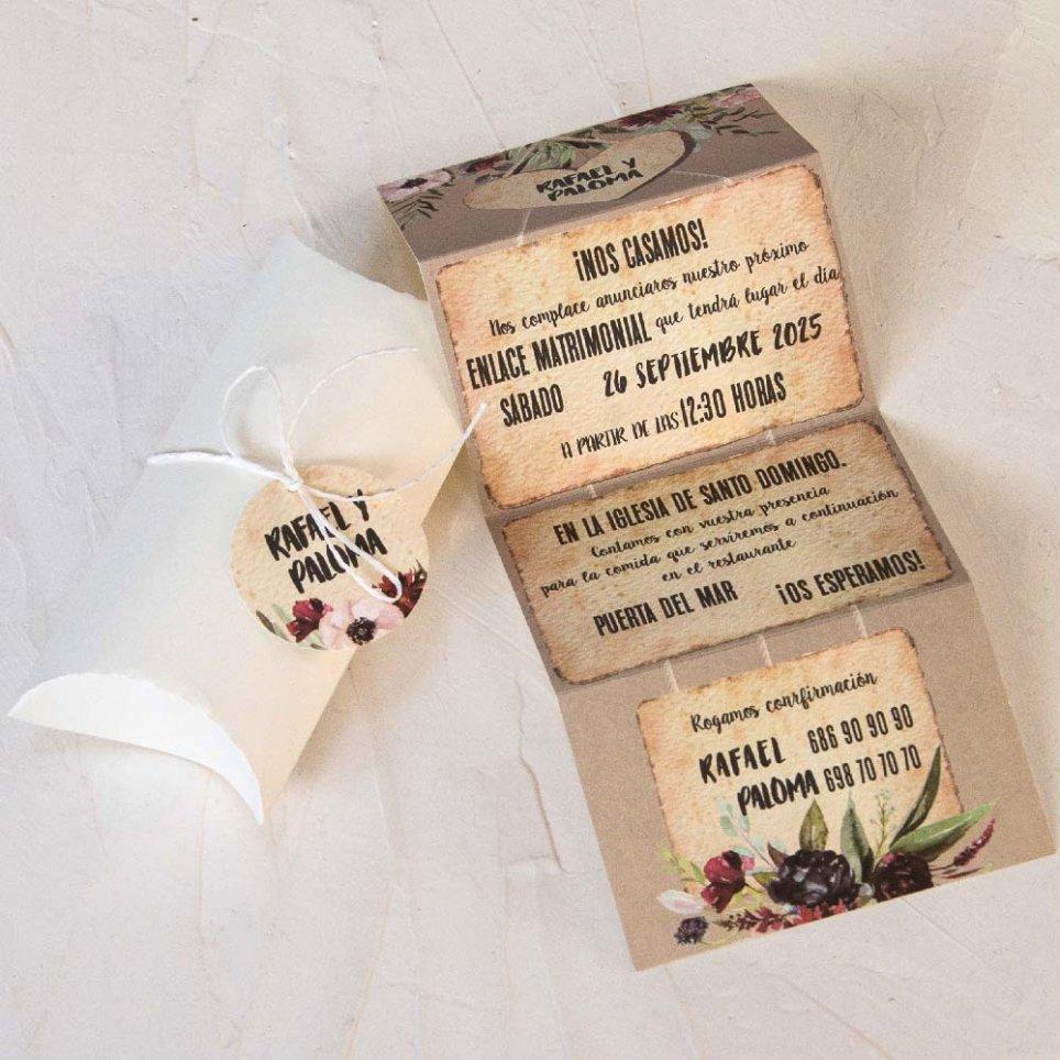 Hochzeitseinladungsherz im Kasten, Cardnovel 39800