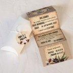 Invitación de boda corazón en caja, Cardnovel 39800