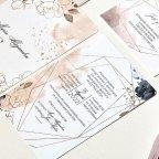 Invitación de boda rosas acuarela, Cardnovel 39788