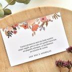 Tarjeta de agradecimiento círculo floral, Cardnovel 49785