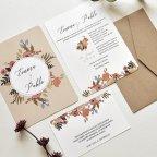 Invitación de boda círculo floral, Cardnovel 39785