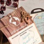 Let the Adventure Suitcase Wedding Invitation, Cardnovel 39817