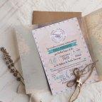 World Map Wedding Invitation, Cardnovel 39823