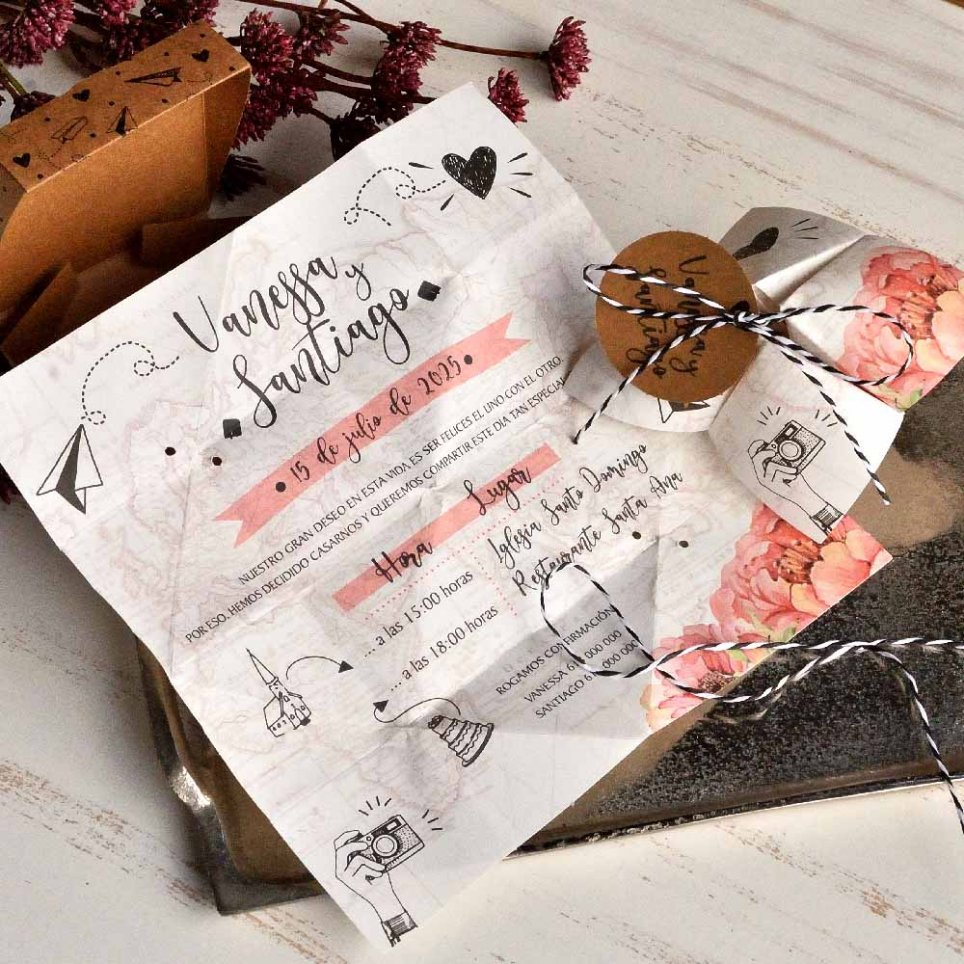 Travel Comecoco Wedding Invitation, Cardnovel 39824
