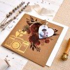 Invitación de boda corazón con foto, Cardnovel 39825