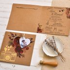 Heart Wedding Invitation with Photo, Cardnovel 39825