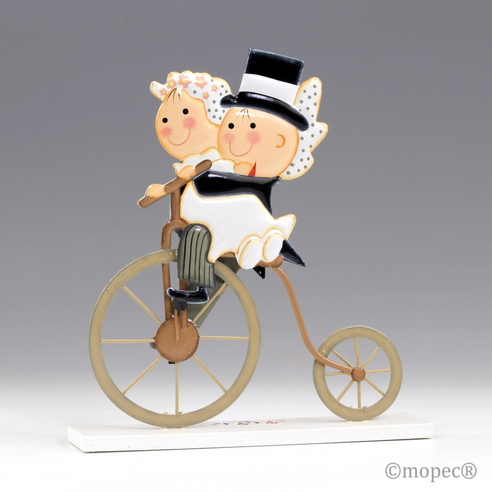 Pit & Pita figura in metallo pastello antico ciclo 24cm