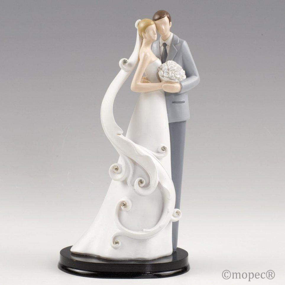 Hochzeitstorte Figur 23cm Blumenstrauß