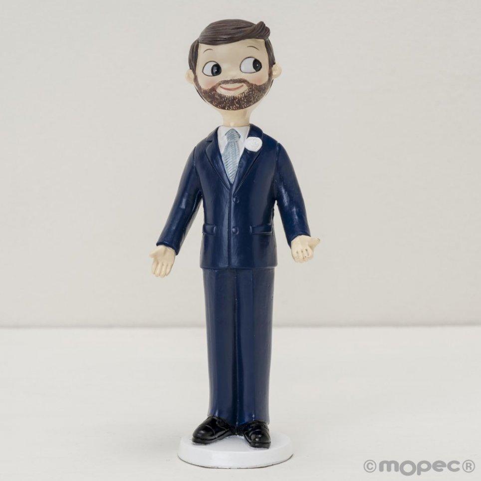 Figura pastel novio Pop&Fun con barba