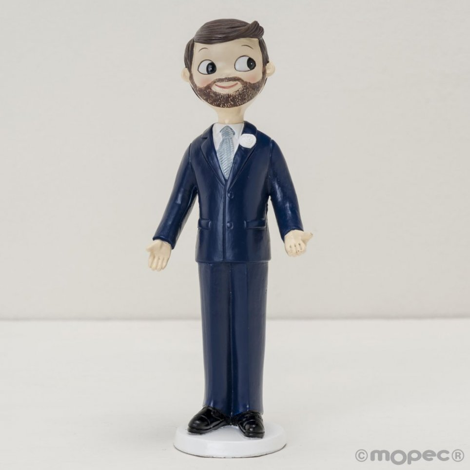 Figura torta sposo Pop & Fun con barba