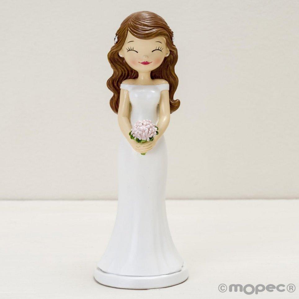 Figura della torta della sposa Pop & Fun con gli occhi chiusi