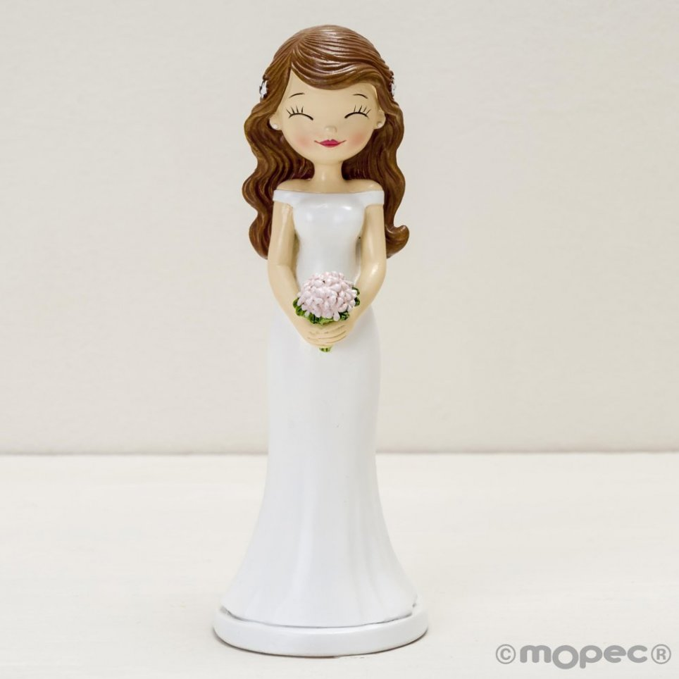 Pop & Fun Braut Kuchen Figur geschlossene Augen