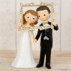 Figura torta Pop & Fun coppia photocall frame 23cm.