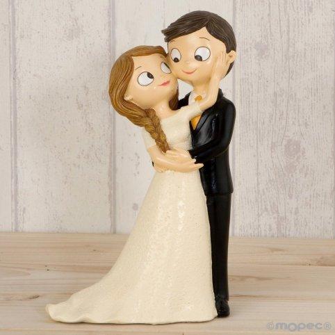 Figura torta Pop & Fun sposa e sposo accarezza 21cm.
