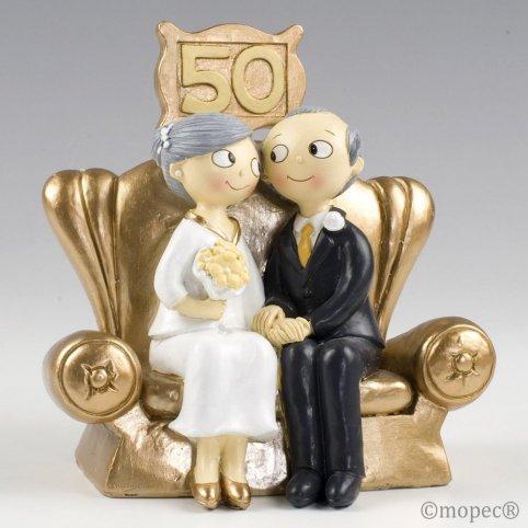Figura pastel Pop&Fun Bodas de Oro 16x16
