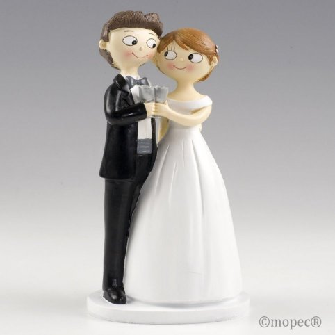Figure cake brides and grooms toast together Pop & Fun 21cm