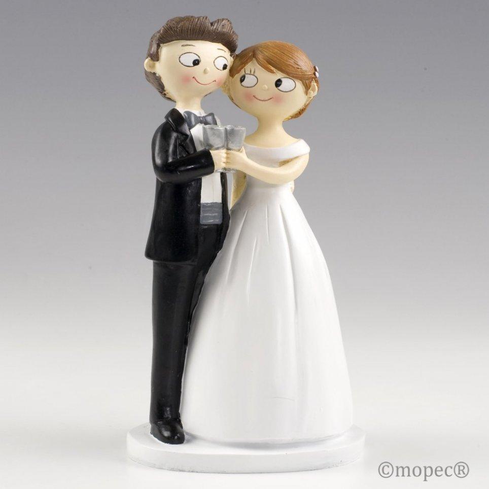 Figura torta coppia toast insieme Pop & Fun 21cm