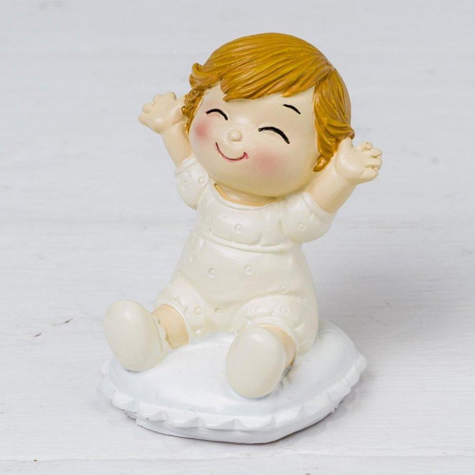 Pop & Fun Babyfigur sitzt auf Kissen 8cm.
