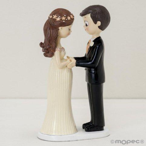 Figura pastel novios Pop&Fun novia embarazada