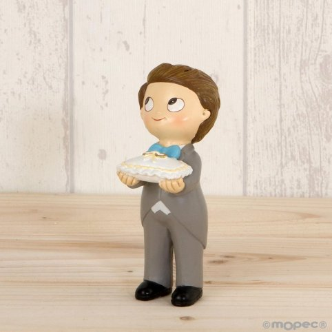 Pastel Figure Pop & Fun Wedding Boy Cushion Rings 11cm.